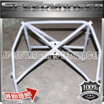 Silver Roll Cage for 05-09 Porsche Coupe 2D 997 Body 4 Point