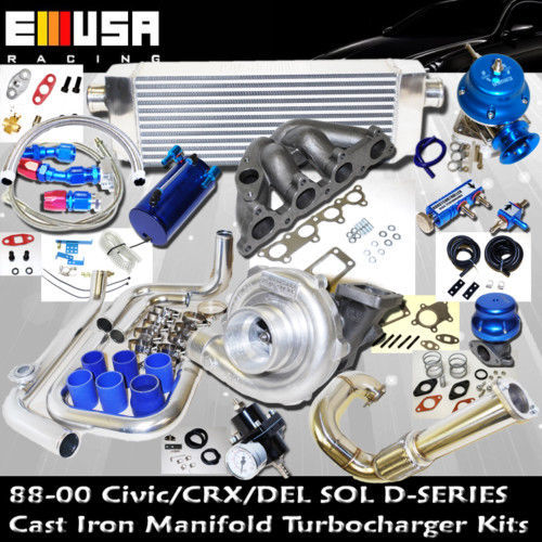 1988-2000 Honda D Series Turbo Kit Honda D15 D16 Civic CRX