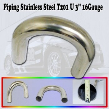 Universal Piping Stainless Steel T201 U Pipe 3""