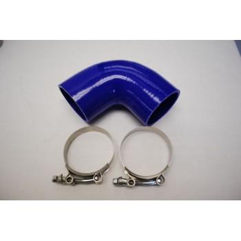 Silicone Reducer hose 90° 2.5 quot; COUPLER Blue+clamp